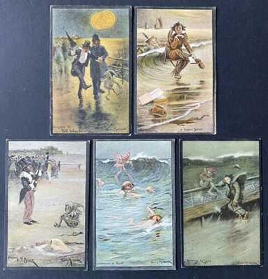 Vintage Fantasy Postcards (5) A/S Thomas Maybank ~Comical Color Studies~Unusual!