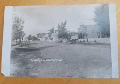 Street Scene AUGUSTA Montana RPPC Vintage Photo Postcard
