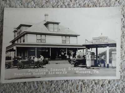 DAVIDSON'S SERVICE STATION WINGATE CENTRE COUNTY PA RPPC  BELLEFONTE MILESBURG
