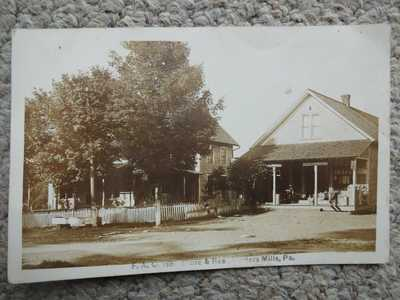F.A. CARSON POTTERS MILLS CENTRE COUNTY PA RPPC POSTCARD NEAR CENTRE HALL