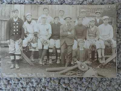1908 HOWARD BASEBALL CLUB CENTRE COUNTY PA RPPC POSTCARD