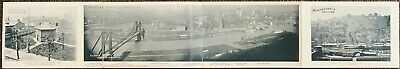 Extremely Rare Pittsburgh Pirates Exposition Park Quadruple Fold Postcard