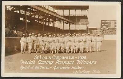 Very Rare 1926 St Louis Cardinals Sportsman's Park Baseball Stadium RP Postcard