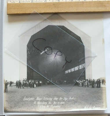 FL - 1929 Florida REAL PHOTO Good Year Blimp in Hangar at St. Petersburg FLA 142