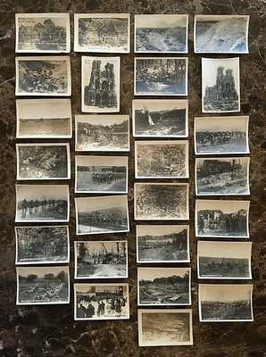 (29) ORIGINAL - WW1 ALLIED POWERS CAPTIONED PHOTOGRAPHS c1916-17