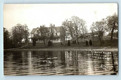 Ingleside, IL - c1913 LONG LAKE VIEW OF STRANTON HOUSE - RPPC PHOTO - #496
