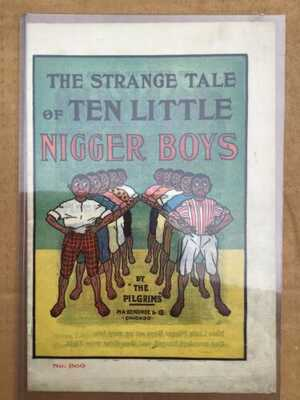 Ten Little Boys Book Made Of Canvas Or Cloth Black Americana Sambo Andy