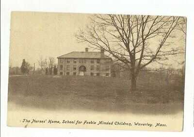INSANE ASYLUM NURSES HOME FEEBLE MINDED CHILDREN WAVERLEY BELMONT MASSACHUSETTS