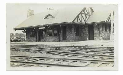 "NJ Toms River New Jersey Central Train Station 3 1/2x5 7/8"" 52 Picture B&W Photo"