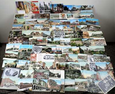APPROX 920 CALIFORNIA POSTCARDS LOT CITIES SMALL TOWNS STREETS SCENES BEACHES++