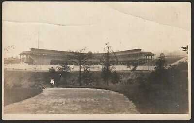 Very Rare Pittsburgh Pirates Forbes Field Baseball Stadium Postcard - circa 1909