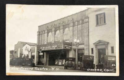 Vintage Real Photo Postcard Oxnard Movie Theatre Theater California RPPC 1930