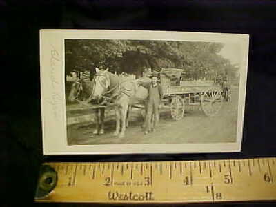 1912 COCA COLA RPPC...SALEM OREGON...HORSE DELIVERY WAGON...REAL PHOTO POSTCARD