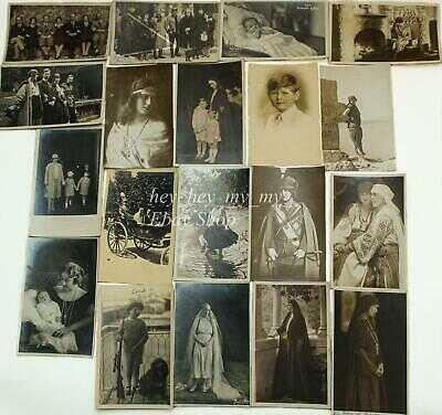 Antique Greek Romanian Royal Family Photos Postcards Princess Queen King Prince
