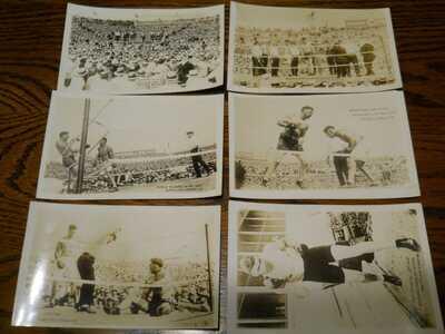 Jack Dempsey vs Jess Willard 1919, set of six photo post cards, Boxing