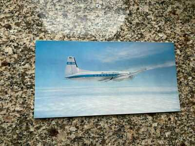 Thai Airways Hawker Siddeley HS 748 1st colors inflight airline issued postcard