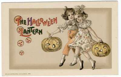 SUPERB WINSCH HALLOWEEN POSTCARD