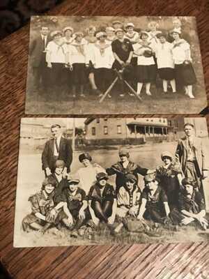C. 1910's Real Photo Postcards x 2 Girls Baseball Teams/ Unknown & Unused