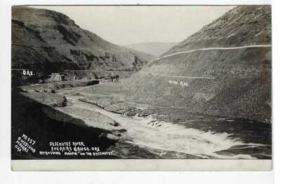 Deschutes River Sherars Bridge Near Maupin Oregon RPPC by Ole Hedlund Postcard
