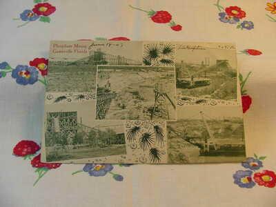 Circa 1907 Phosphate Mining Gainesville Florida Postcard G43