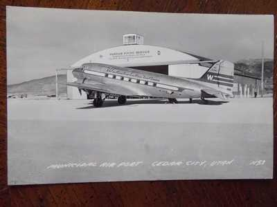 VINTAGE POSTCARD MUNICIPAL AIRPORT / CEDAR CITY UTAH