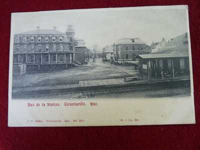 RPPC VICTORIAVILLE RUE DE LA STATION (RAILWAY) QUEBEC J.O. DUBUC NO 3014