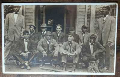 RPPC Wilberforce University Ohio Baseball Team African American Negro Postcard