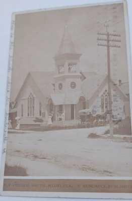 MIAMI FL -1908 RPPC M.E. church horse,street scene MUSUMECI Postcard