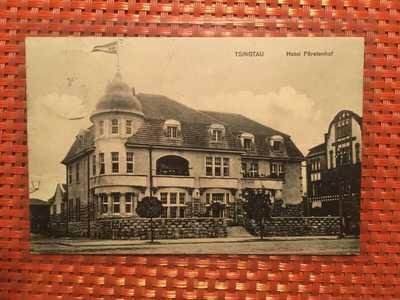 China Tsingtau Kiautschou 1913 Hotel Fürstenberg cancelled Tsingtau Tapantau