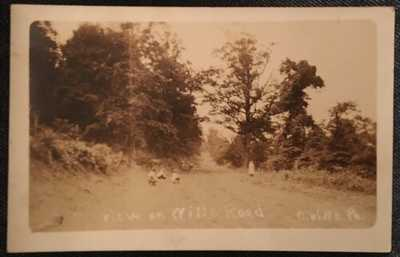 Connellsville PA Boys Play On Wills Road Street View Rppc Postcard