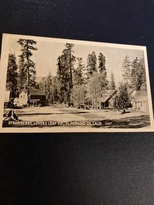 RPPC Strawberry Resort-lake Tahoe Lovers Leap PO El Dorado County CA 1925