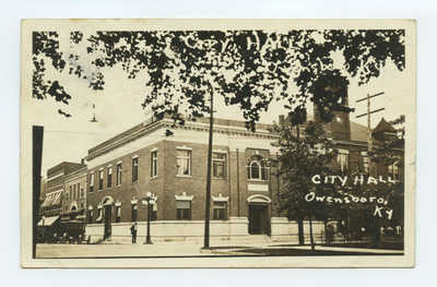 OWENSBORO, KY ~ City Hall ~ 1923 RPPC postcard, Kentucky