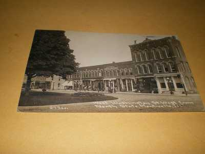 1912 RPPC Town View West Washington St Monticello IL CR Childs Photo Postcard