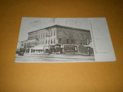 1908 Town View Corner Main & Neil Streets Champaign IL Illinois Postcard