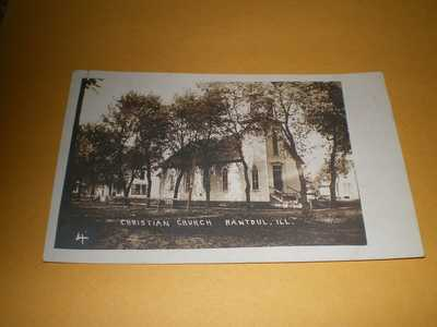 Old Town View Christian Church Rantoul IL Illinois Photo Postcard
