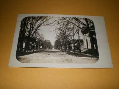 Old Town View W. Hill Street Champaign IL Illinois Photo Postcard