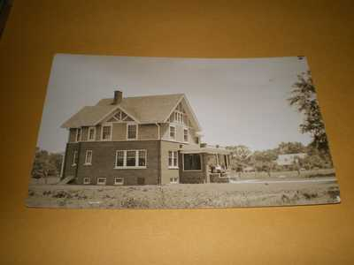 1914 RPPC Town View H.N. Berks House Champaign IL Illinois Photo Postcard