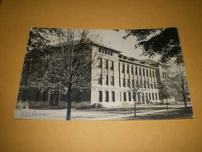 Old RPPC View Unidentified Campus Building Urbana IL Illinois Photo Postcard