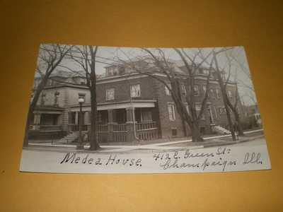 Old RPPC View Medea House 412 E Green St Champaign IL Illinois Photo Postcard