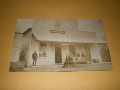 Old RPPC View Shaw & Haynes Building Business Urbana IL Illinois Photo Postcard