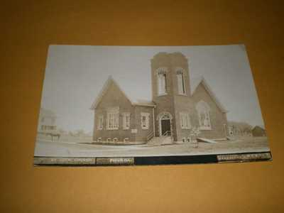 1917 RPPC Town View Ev Luth Church Philo IL Illinois Champaign Co Photo Postcard