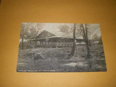1908 RPPC Dancing Pavilion Homer Park IL Illinois Champaign Co Photo Postcard