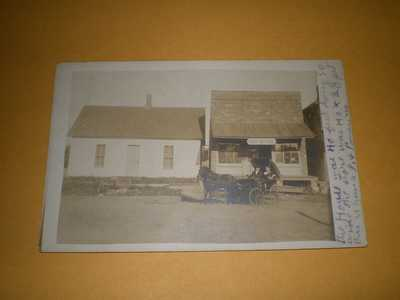 1916 RPPC Town View Post Office Dewey IL Champaign County Illinois Postcard