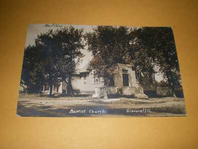Old RPPC Town View Baptist Church Gifford IL Illinois Champaign County Postcard