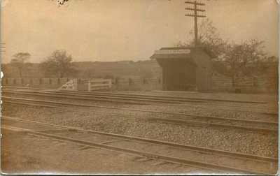 Antique RPPC Postcard   WAITES CROSSING New York   PASSENGER TRAIN STATION  RARE