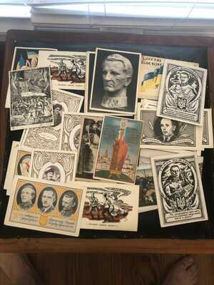 15x Anti-Soviet Propaganda Postcards Ukrainian Diaspora In USA United Nations