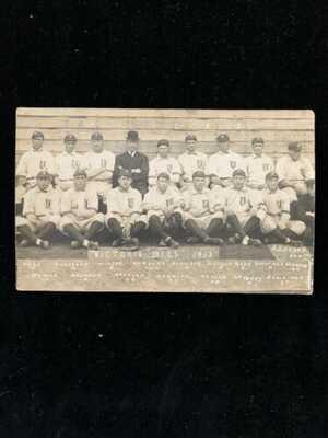 VINTAGE VICTORIA BEES 1912 BASEBALL POSTCARD