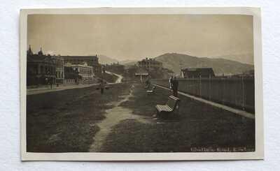 Old (vintage) HONG KONG postcard CHATHAM ROAD KOWLOON Real Photograph