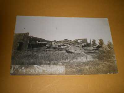 1911 RPPC Pesotum IL Illinois Champaign County Photo Postcard 4 Tornado Wreck