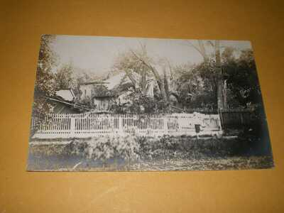 1911 RPPC Pesotum IL Illinois Champaign County Photo Postcard 5 Tornado Wreck